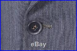 Vtg 40s Wool Pin Stripe Double Breasted Suit USA Mens Size 40 Reg