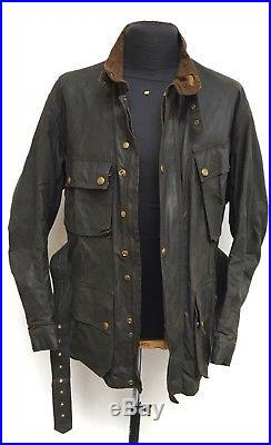 Vtg 50s BELSTAFF trialmaster WAX Motorcycle Jacket + SUIT TROUSERS cafe racer