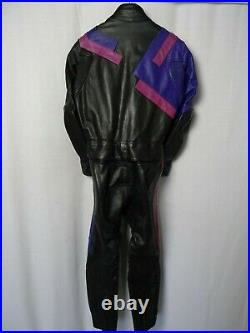 Vtg HELD Leather Motorcycle Suit 42R W36 L28
