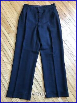 Vtg Men's 1930s 1940s NOS Double Breasted Suit Jacket XS Pants 26x32 30s 6779