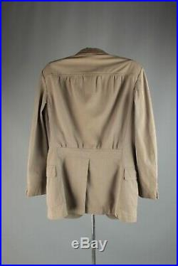 Vtg Men's 1935 Grey Belted Back Blazer Small 30s Suit Jacket #6714 1930s