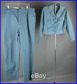 Vtg Men's 1940s 1950s HBT Cotton Workwear Outfit Jacket 42 Pants 39x36.5 #6337