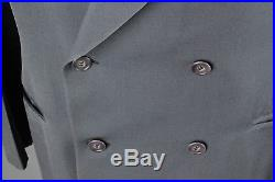 Vtg Men's 1940s Blue Gray Double Breasted Suit Jacket 40 Pants 33x31.5 40s #5146