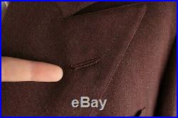 Vtg Men's 1940s Double Breasted Wool Suit Jacket M Pants 32.5x31 40s #7185