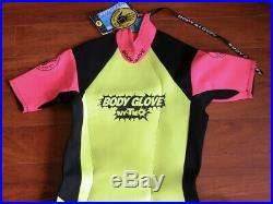 Vtg Neon 80s 90s BODY GLOVE Surf Suit RARE NOS Neoprene Outfit Mens XL
