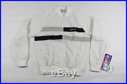 Vtg New 80s Adidas Mens Large Spell Out Trefoil 2 Piece Run DMC Track Suit White
