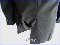 Vtg Norman Hilton Men's 44 Long Charcoal Gray 3/2 Roll Hand Tailored Wool Suit