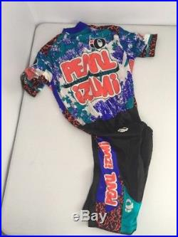 Vtg PEARL IZUMI Technical Wear Cycling 1pc Bib Body Suit/Padded Shorts M JAPAN