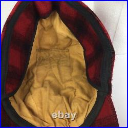 Vtg Woolrich Mackinaw Buffalo Plaid Hunting Suit Jacket 42 Pants 36 Wool with Hat