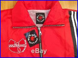 Wu Tang tracksuit, vintage Wu Wear jacket and pants 90s hip hop suit red size XL